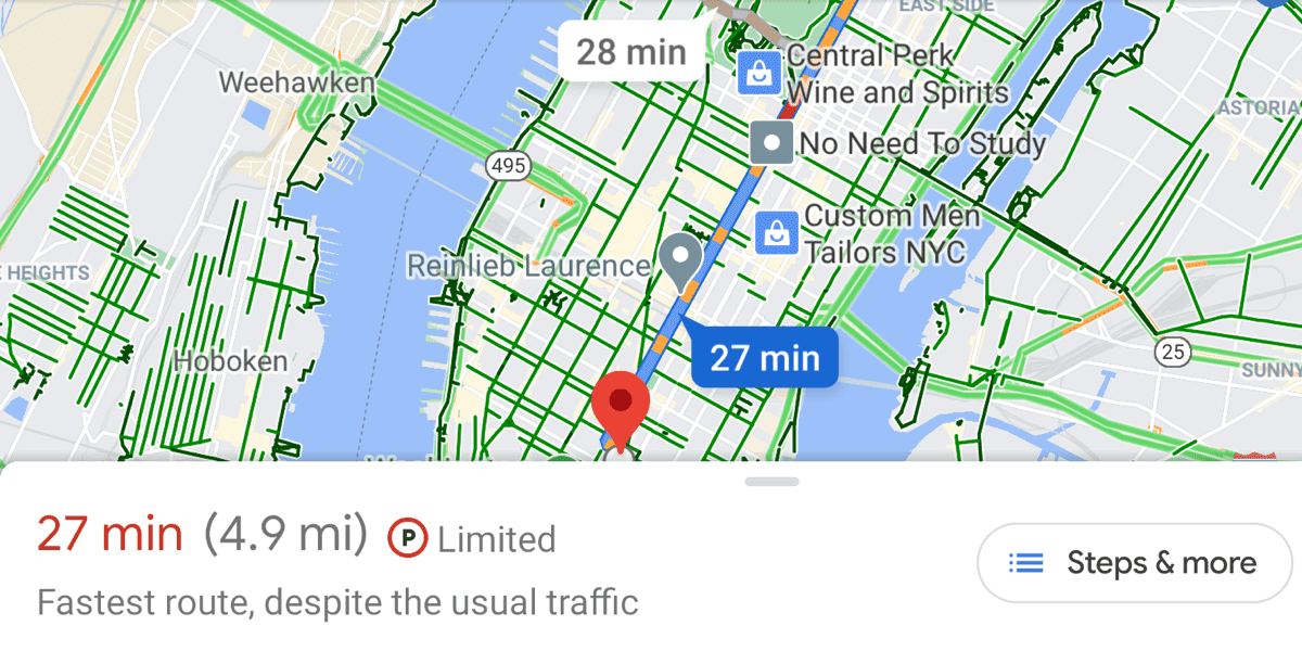 google maps route planning
